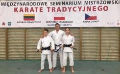 <h5>Nowe czarne pasy</h5><p>Julia Pogorzelska i Wiktor Janusz zdali na czarny pas podczas międzynarodowego seminarium karate tradycyjnego w Kluczborku 11 i 12 maja. </p>